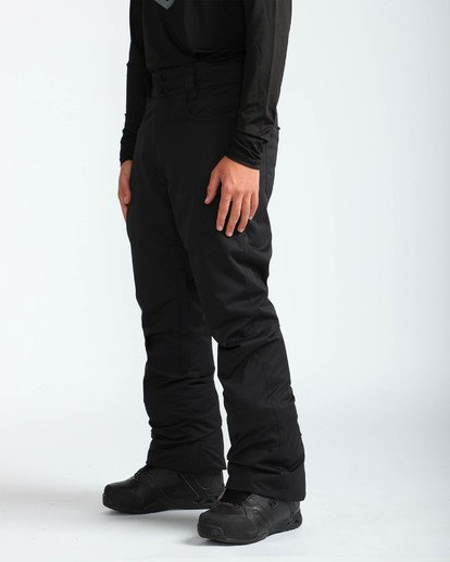 3 Men's Outsider Outerwear Snow Pants Black MSNPQOUT Billabong