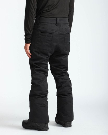 4 Men's Outsider Outerwear Snow Pants Black MSNPQOUT Billabong