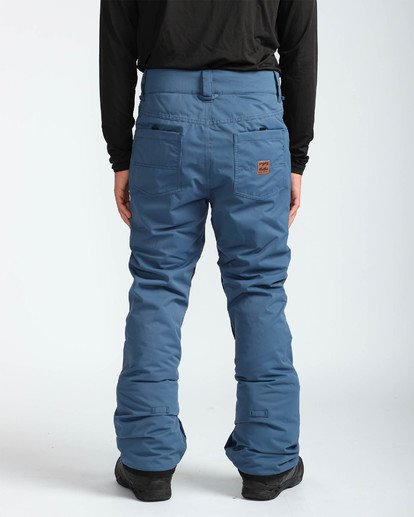 5 Men's Outsider Outerwear Snow Pants Blue MSNPQOUT Billabong