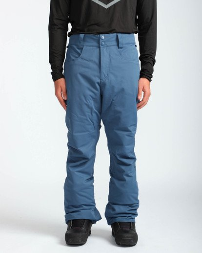 2 Men's Outsider Outerwear Snow Pants Blue MSNPQOUT Billabong