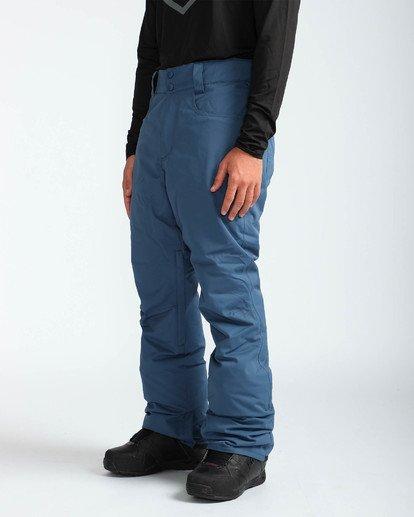 3 Men's Outsider Outerwear Snow Pants Blue MSNPQOUT Billabong