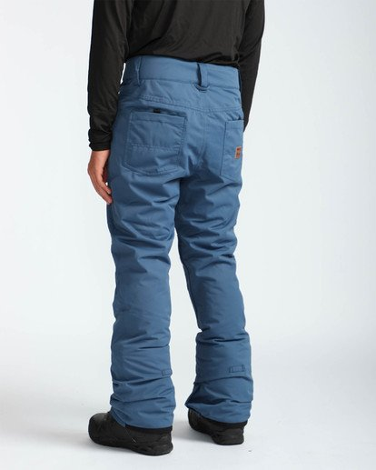 4 Men's Outsider Outerwear Snow Pants Blue MSNPQOUT Billabong