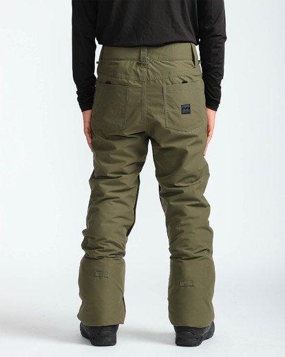 5 Men's Outsider Outerwear Snow Pants Brown MSNPQOUT Billabong