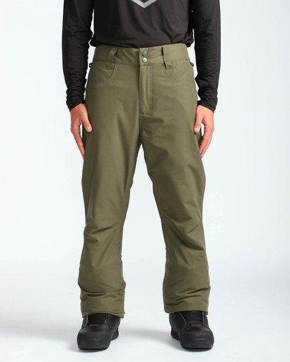 2 Men's Outsider Outerwear Snow Pants Brown MSNPQOUT Billabong
