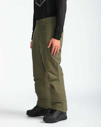 3 Men's Outsider Outerwear Snow Pants Brown MSNPQOUT Billabong