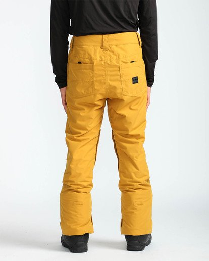 5 Men's Outsider Outerwear Snow Pants Beige MSNPQOUT Billabong