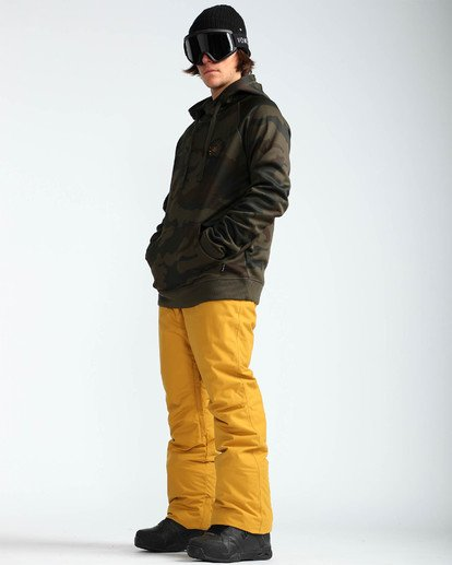 6 Men's Outsider Outerwear Snow Pants Beige MSNPQOUT Billabong