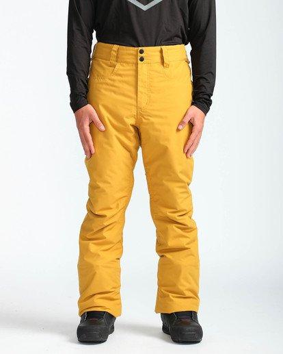 2 Men's Outsider Outerwear Snow Pants Beige MSNPQOUT Billabong