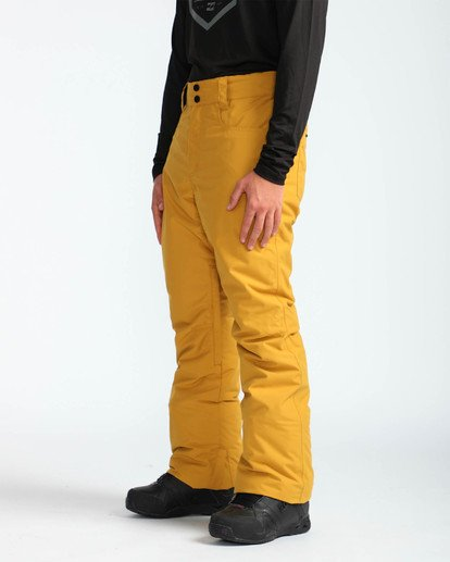 3 Men's Outsider Outerwear Snow Pants Beige MSNPQOUT Billabong