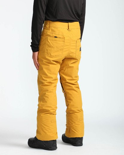 4 Men's Outsider Outerwear Snow Pants Beige MSNPQOUT Billabong
