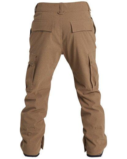 4 Men's Transport Outerwear Snow Pants Yellow MSNPQTRA Billabong