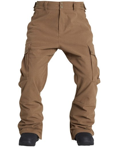2 Men's Transport Outerwear Snow Pants Yellow MSNPQTRA Billabong