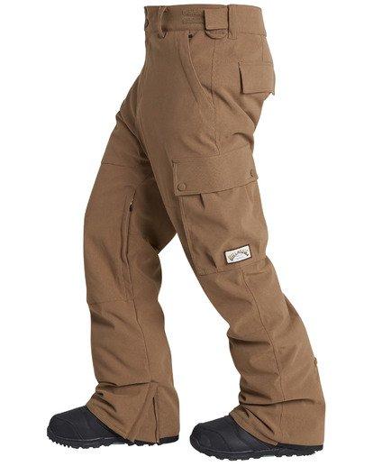 3 Men's Transport Outerwear Snow Pants Yellow MSNPQTRA Billabong