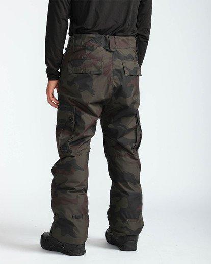 4 Men's Transport Outerwear Snow Pants Green MSNPQTRA Billabong