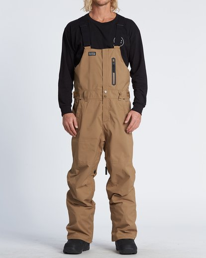 0 North West Snow Bib Pant Brown MSNPVBSB Billabong