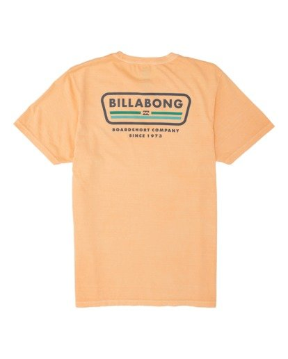 1 Badge Short Sleeve T-Shirt Grey MT131BBA Billabong