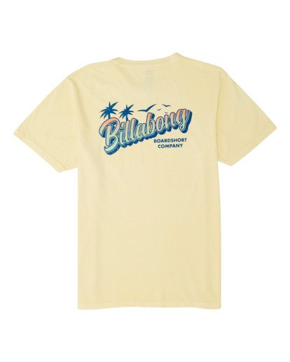 4 Beachin Short Sleeve T-Shirt Yellow MT131BBE Billabong