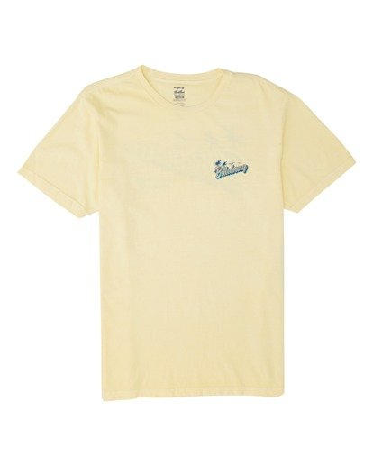 3 Beachin Short Sleeve T-Shirt Yellow MT131BBE Billabong