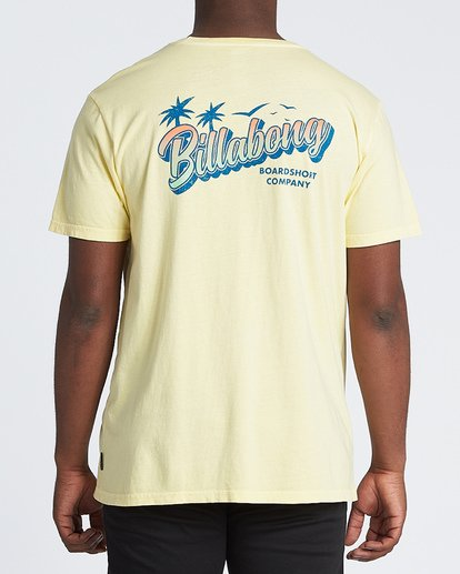 2 Beachin Short Sleeve T-Shirt Yellow MT131BBE Billabong