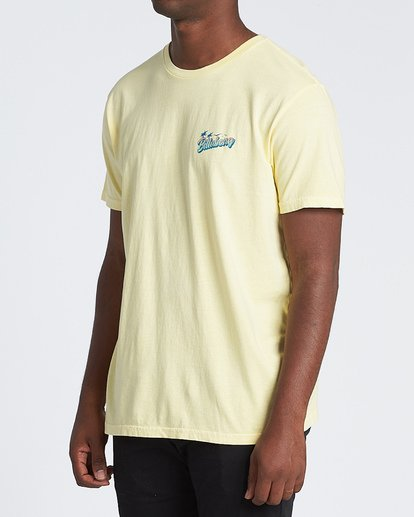 1 Beachin Short Sleeve T-Shirt Yellow MT131BBE Billabong