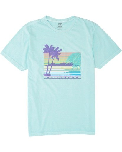 3 Coastline Short Sleeve T-Shirt Grey MT131BCA Billabong