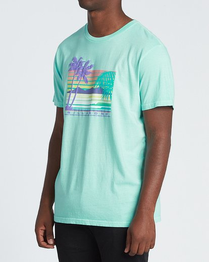 1 Coastline Short Sleeve T-Shirt Grey MT131BCA Billabong