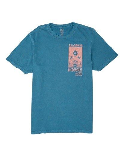 3 Mind Control Short Sleeve T-Shirt Blue MT131BMI Billabong