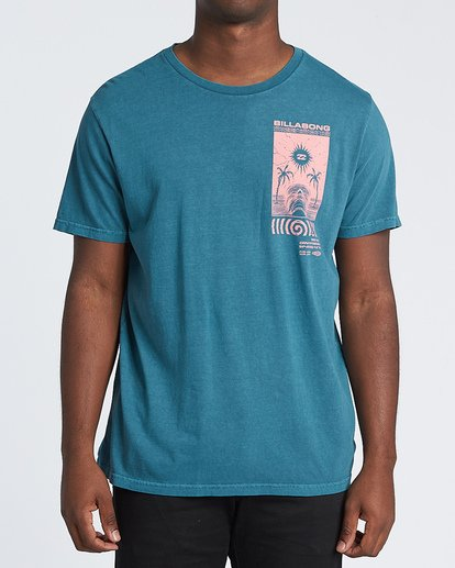0 Mind Control Short Sleeve T-Shirt Blue MT131BMI Billabong