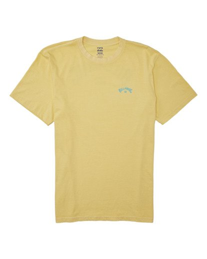 0 Arch Wave Short Sleeve T-Shirt Yellow MT132BAW Billabong