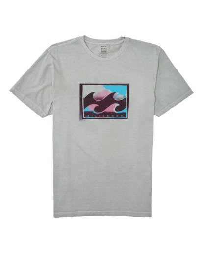 3 Spray Short Sleeve T-Shirt Grey MT132BSP Billabong