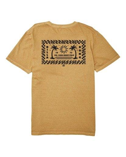 4 Taxicab Short Sleeve T-Shirt Yellow MT132BTC Billabong