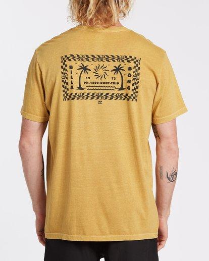 2 Taxicab Short Sleeve T-Shirt Yellow MT132BTC Billabong
