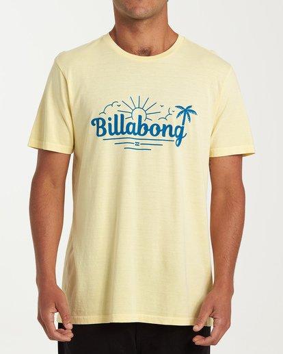 0 Seaside Short Sleeve T-Shirt Yellow MT13WBSE Billabong