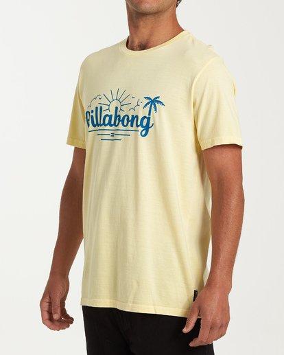 1 Seaside Short Sleeve T-Shirt Yellow MT13WBSE Billabong