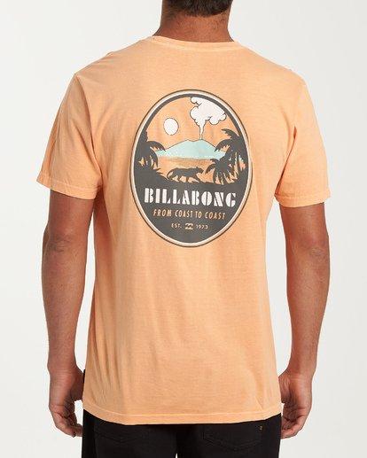 2 Volcano Short Sleeve T-Shirt Orange MT13WBVO Billabong