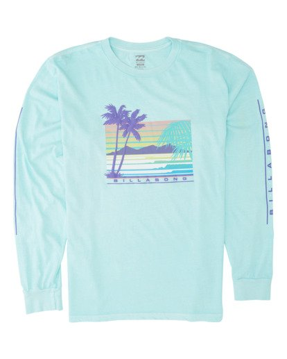 3 Coastline Long Sleeve T-Shirt Grey MT431BCO Billabong