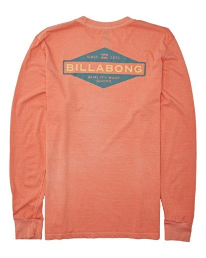 4 Auto Shop Long Sleeve T-Shirt Orange MT432BAU Billabong