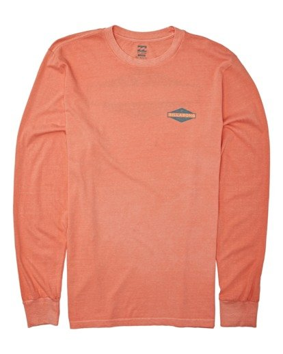 3 Auto Shop Long Sleeve T-Shirt Orange MT432BAU Billabong