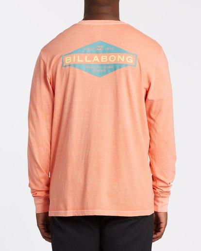 2 Auto Shop Long Sleeve T-Shirt Orange MT432BAU Billabong