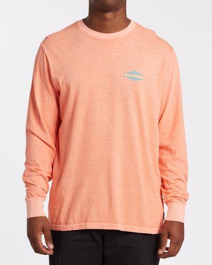0 Auto Shop Long Sleeve T-Shirt Orange MT432BAU Billabong