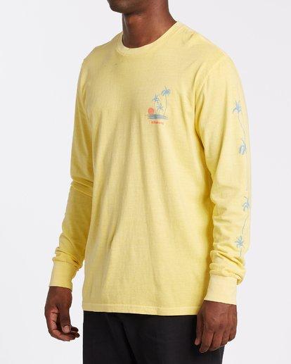 1 Cruiser Long Sleeve T-Shirt Yellow MT432BCU Billabong