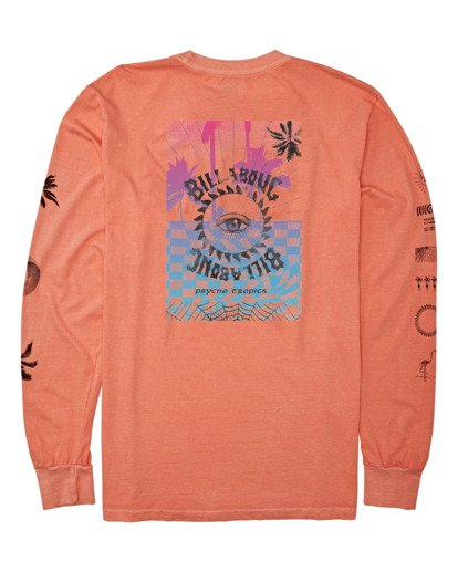 4 Providence Long Sleeve T-Shirt Orange MT432BPR Billabong