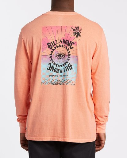 2 Providence Long Sleeve T-Shirt Orange MT432BPR Billabong
