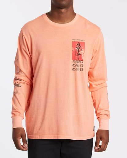 0 Providence Long Sleeve T-Shirt Orange MT432BPR Billabong