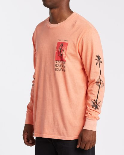 1 Providence Long Sleeve T-Shirt Orange MT432BPR Billabong