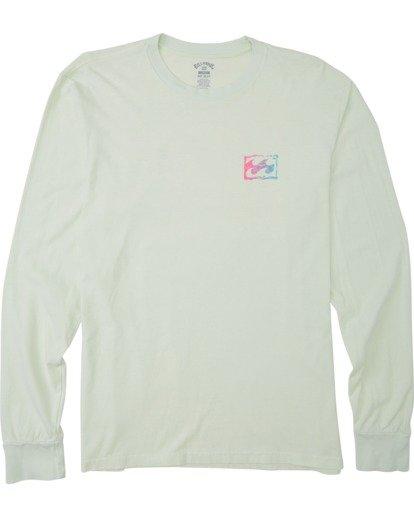 3 Crayon Wave Long Sleeve T-Shirt Multicolor MT433BCW Billabong