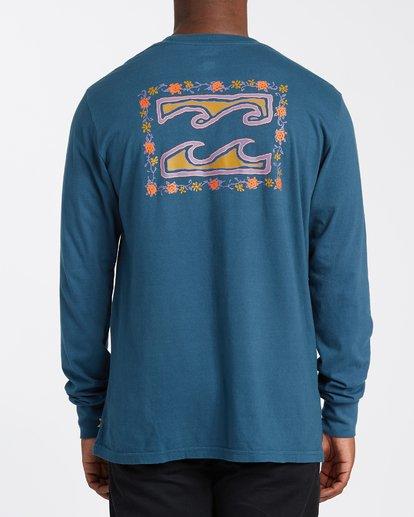 2 Crayon Wave Long Sleeve T-Shirt Blue MT433BCW Billabong