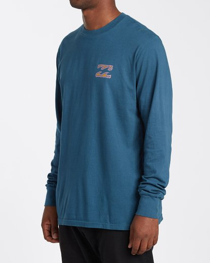 1 Crayon Wave Long Sleeve T-Shirt Blue MT433BCW Billabong
