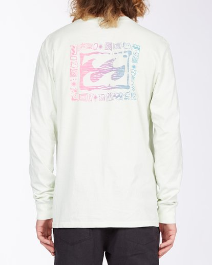 2 Crayon Wave Long Sleeve T-Shirt Multicolor MT433BCW Billabong