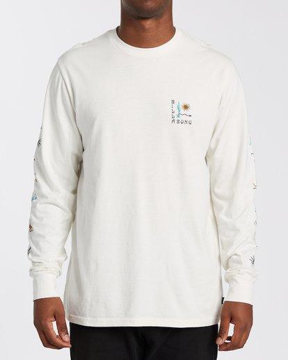 0 Hot Springs Long Sleeve T-Shirt White MT433BHS Billabong
